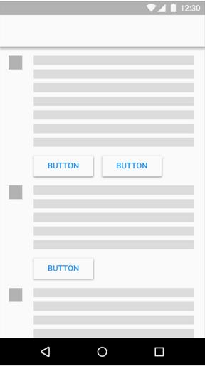 دکمه های برآمده میتوانند کمک کنند تا قسمت های مختلف یک محتوا مشخص شود.