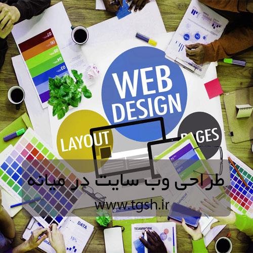 طراحی سایت شرکتی در میانه